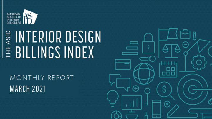 ASID Interior Design Billings Index (IDBI) - March 2021