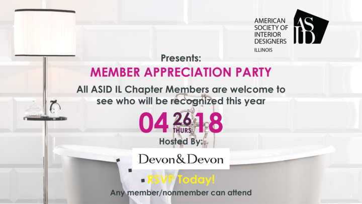 ASID Illinois Spring Fling And Membership Things: Member Appreciation Party