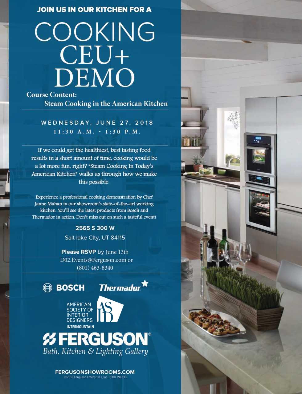 Cooking Demo + CEU - Salt Lake City, UT