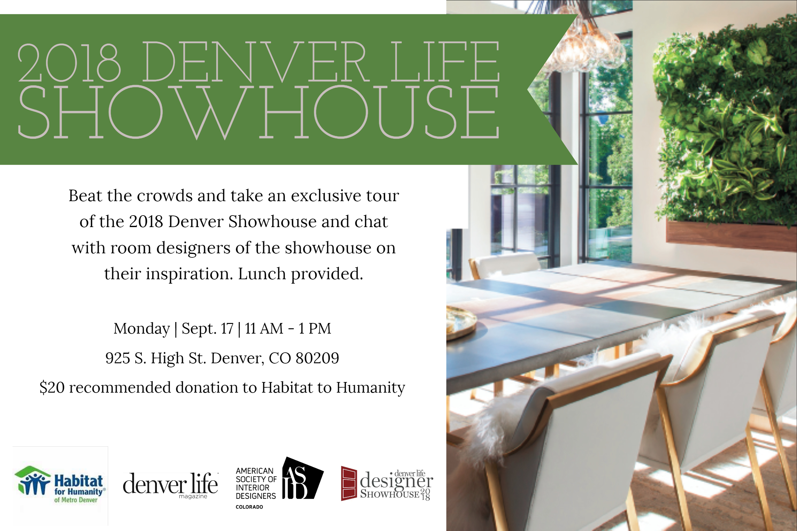 asid presents lunch at the denver life showhouse