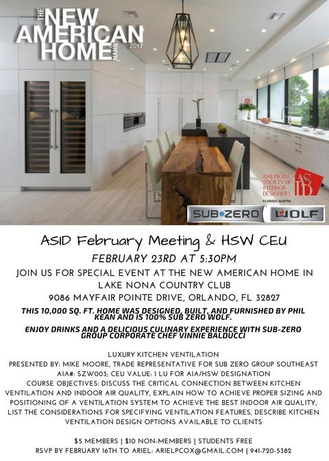 February Chapter Meeting Ceu Orlando