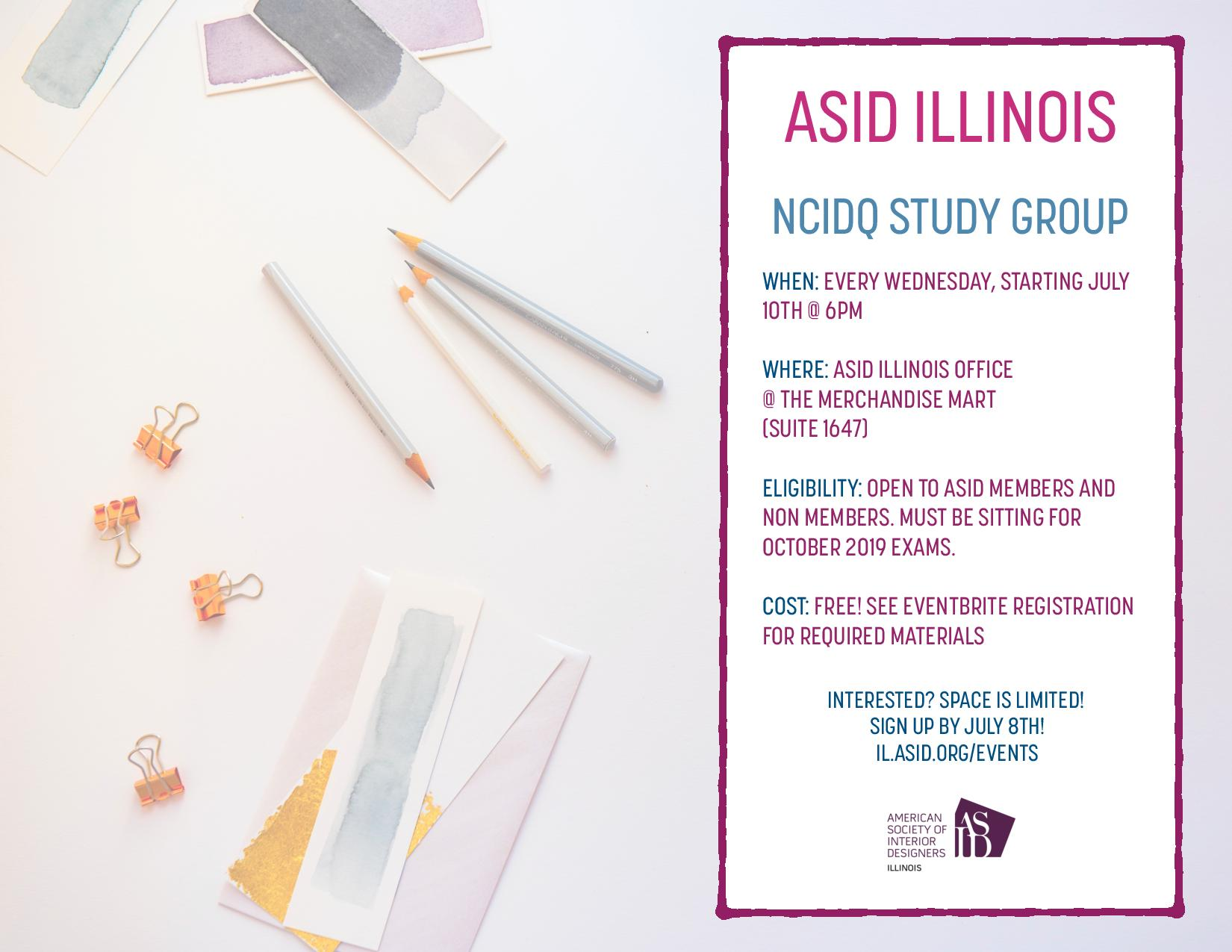 NCIDQ Study Group Fall Session
