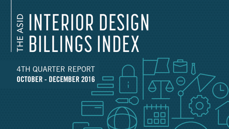Asid interior design billings index 2016 fourth quarter report for Interior design resources