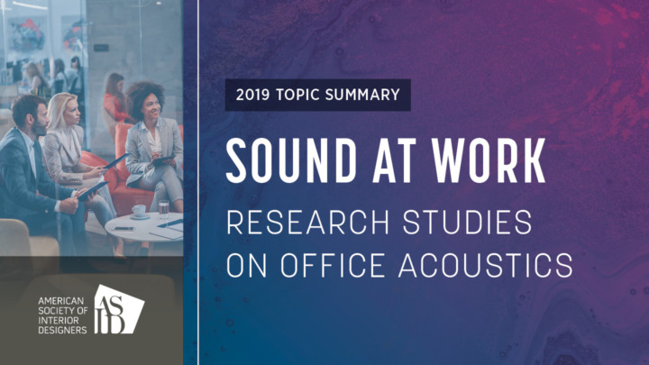 Sound at Work: Research Studies on Office Acoustics